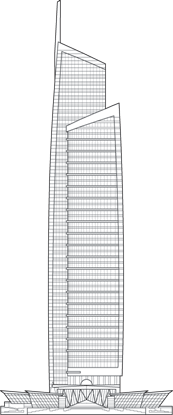 Almas Tower Outline