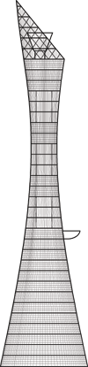 Aspire Tower Outline
