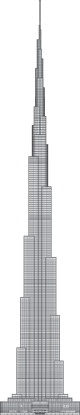 Burj Khalifa Outline