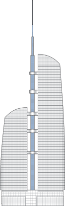 Federation Tower Spire Outline