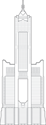 85 Sky Tower Outline